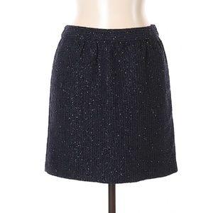 Ann Taylor Midnight Metallic Tweed Skirt